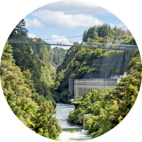 Waikato River Trails Arapuni Suspension Bridge cropped credit Waikato River Trails
