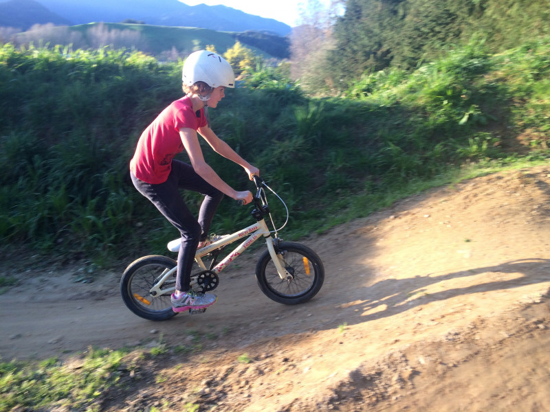 Rosa on Ngatimoti Pump Track copyright Damian Stones